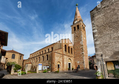 JULY 22, 2019 - GRADO, ITALY - Sant'Eufemia Basilica in Grado, Northeastern Italy - Stock Photo