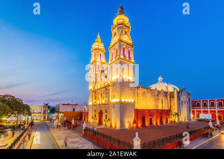 Campeche, Mexico. Conception Cathedral in the Old Town of San Francisco de Campeche. - Stock Photo