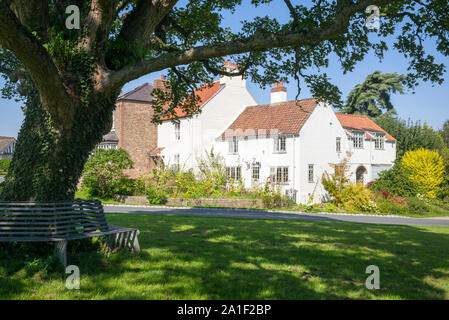 Part of the ancient village green in Aldborough, North Yorkshire, UK - Stock Photo