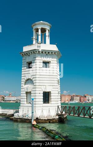 Lighthouse on San Giorgio Maggiore island in Venice, Veneto, Italy - Stock Photo