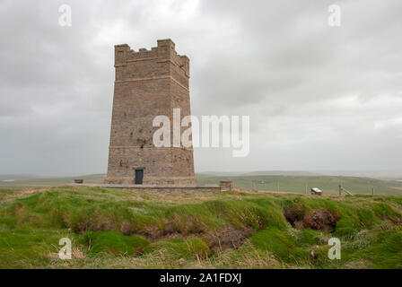 Field Marshall Earl Kitchener of Khartoum Memorial Tower Marwick Head Dounby West Mainland Orkney Isles Scotland United Kingdom south west aspect of 1 - Stock Photo