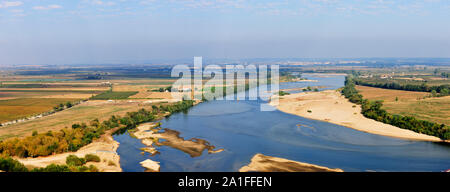 Tagus river viewed from the Portas do Sol belvedere. Santarem, Portugal - Stock Photo