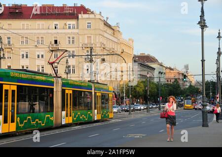 Saint Stephen Boulevard, Szent Istvan Korut. Budapest, Hungary - Stock Photo