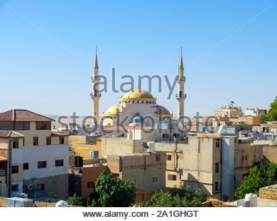 Jordan, Madaba Governorate, Madaba. King Hussein Mosque. - Stock Photo