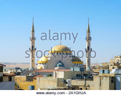 Jordan, Madaba Governorate, Madaba. King Hussein Mosque. - Stock Photo