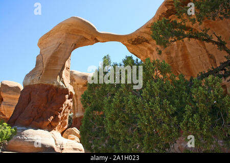 Metate Arch in Devil's Garden, Utah - Stock Photo