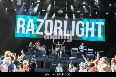 Performances from the final day of Victorious Festival 2019 Featuring: Razorlight Where: Portsmouth, United Kingdom When: 25 Aug 2019 Credit: WENN.com - Stock Photo