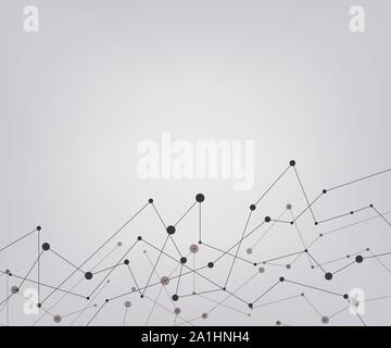 Abstract connecting dots and lines. Connection science background. Vector illustration - Stock Photo
