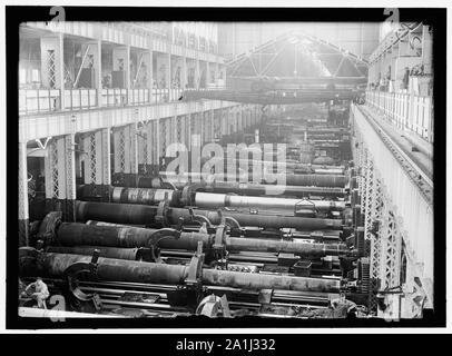 NAVY YARD, U.S., WASHINGTON. BIG GUN SECTION OF SHOPS - Stock Photo