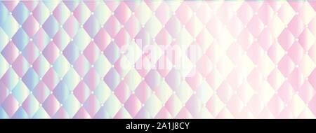 holographic rainbow texture banner full vector elements - Stock Photo