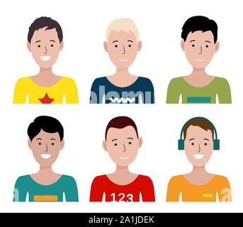 Group people with different kinds of sport. Vector illustration in a flat style - Stock Photo