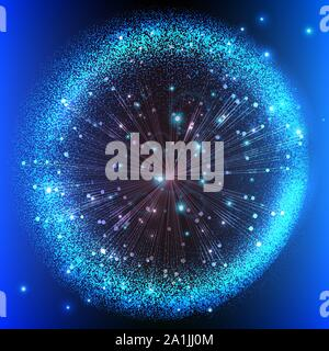 abstract background with fireworks. Vector Illustration Creative element for design luxury cards invitations party - Stock Photo