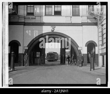 Navy Yard gate - Stock Photo