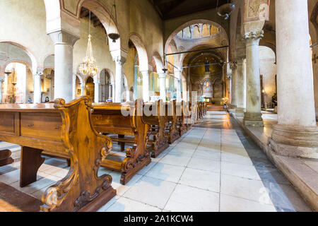 JULY 22, 2019 - TRIESTE, ITALY - San Giusto cathedral - Stock Photo