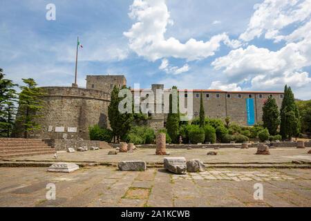 JULY 22, 2019 - TRIESTE, ITALY - San Giusto castle - Stock Photo