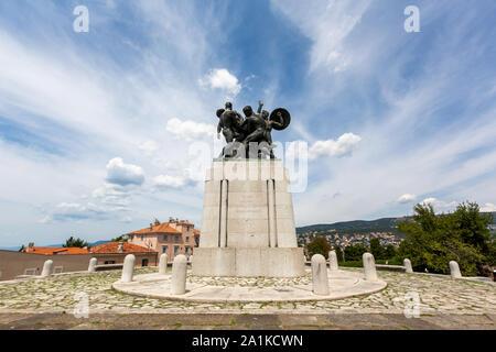 JULY 22, 2019 - TRIESTE, ITALY - War memorial in Parco della Rimembranza - Stock Photo