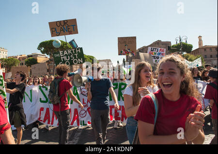 Roma, 27/09/2019: Climate global strike, Fridays for Future.