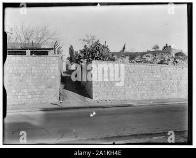 Newer Jerusalem. Street and wall with opening - Stock Photo