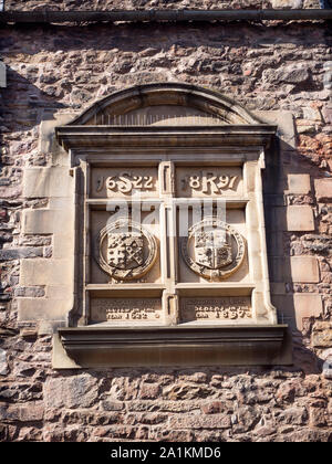 Stobe carving details at the Writers Museum in Lady Stairs House on Lady Stairs Close off Lawnmarket Edinburgh Scotland - Stock Photo