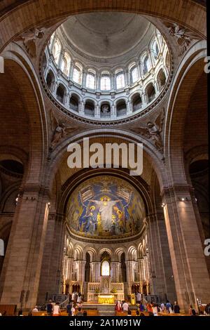 Basilique du Sacre Coeur in Montmartre, Paris, France - Stock Photo