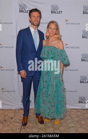 NEW YORK, NY - SEPTEMBER 26: Justin Rockefeller and Indre Rockefeller attend the 8th Annual New York City Ballet Fall Fashion Gala at David H. Koch Th - Stock Photo