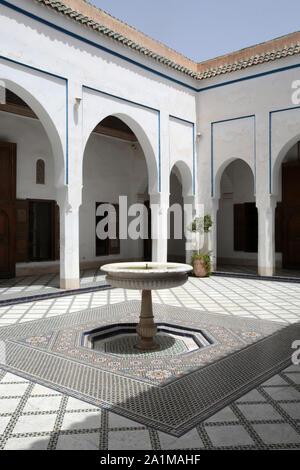 Patio. Palais Bahia. Le palais de la belle. Marrakech. Maroc. / Courtyard. Bahia Palace. The palace of the beautiful. Marrakech. Maroc. - Stock Photo