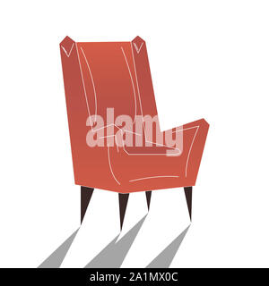 Living room furniture design concept with modern home interior elements isolated vector illustration. Pattern is good for craft paper design - Stock Photo