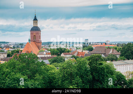 Old town panorama view from Spandau Citadel in Berlin, Germany