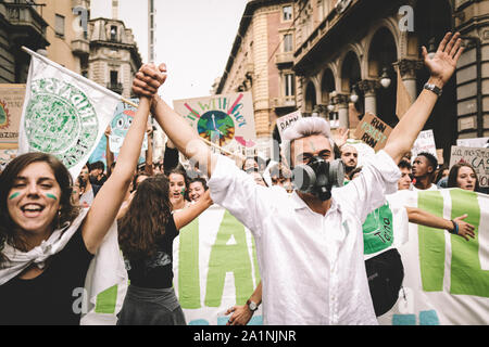 Fridays For Future in Turin - Stock Photo