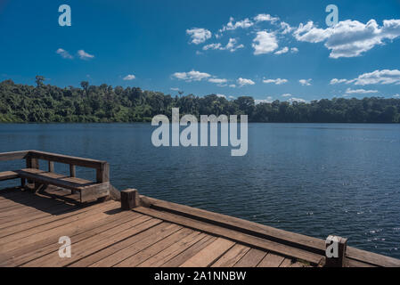 The famous Yeak Laom Lake near Ban Lung in Ratanakiri, Cambodia - Stock Photo