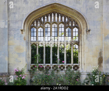 Detail of King's College building in Cambridge, United Kingdom