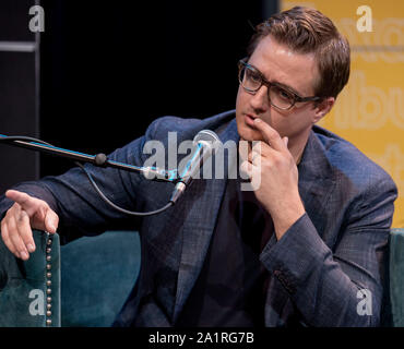 Austin, Texas, USA. 28th Sep, 2019. CHRIS HAYES moderates a discussion on the final day of the three-day Texas Tribune Festival, an annual politics and policy colloquy. Credit: Brian Cahn/ZUMA Wire/Alamy Live News - Stock Photo