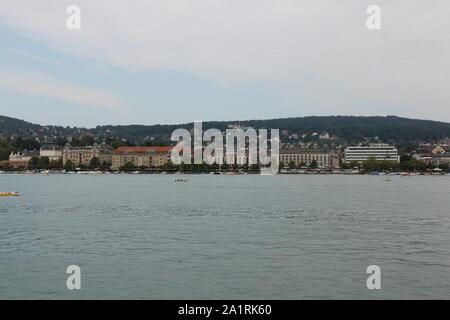 Impressionen vom Zürichsee in der Schweiz - Stock Photo