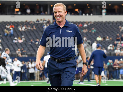 Sep 22, 2019: Dallas Cowboys head coach Jason Garrett during an NFL game between the Miami Dolphins and the Dallas Cowboys at AT&T Stadium in Arlington, TX Dallas defeated Miami 31-6 Albert Pena/CSM - Stock Photo