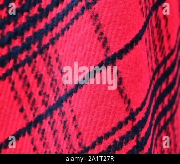 Colorful detailed fabric textures of different cloth types in a close up view - Stock Photo