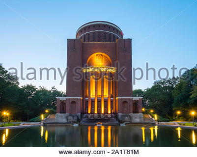 Planetarium building in Hamburg Stadtpark at dusk, Hamburg, Germany - Stock Photo