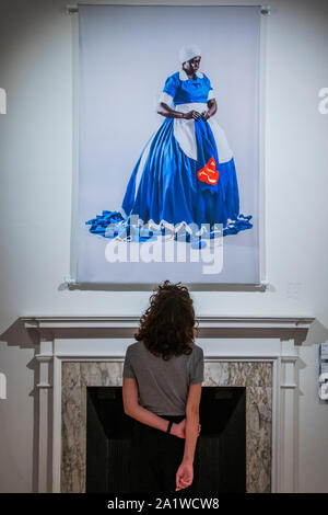 London, UK. 29th Sep, 2019. They Don't Make Them Like They Used To, 2008 - Somerset House's new exhibition from South African artist Mary Sibande, I Came Apart at the Seams, presented in collaboration with 1-54 Contemporary African Art Fair, is captured ahead of its opening on Thursday 3 October 2019 in London. Credit: Guy Bell/Alamy Live News - Stock Photo