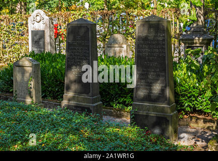D-Luedinghausen, Stever, Muensterland, Westphalia, North Rhine-Westphalia, NRW, Old Jewish cemetery, graves, tombstones - Stock Photo