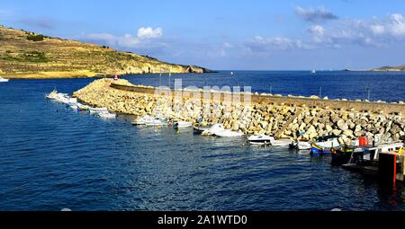 Mgarr, Gozo - 8th October 2018:Yachts in the harvour of Mgarr - Stock Photo