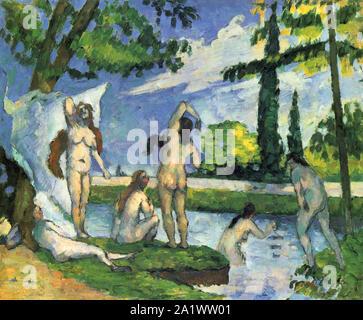 Bathers, 1874–1875, by Paul Cézanne Stock Photo