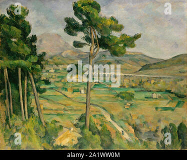 Mont Sainte-Victoire and the Viaduct of the Arc River Valley (1882 –1885), by Paul Cezanne - Stock Photo