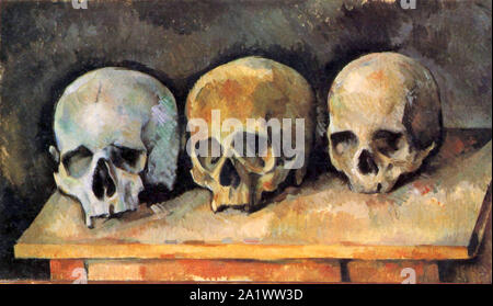 The Three Skulls by Paul Cézanne Stock Photo