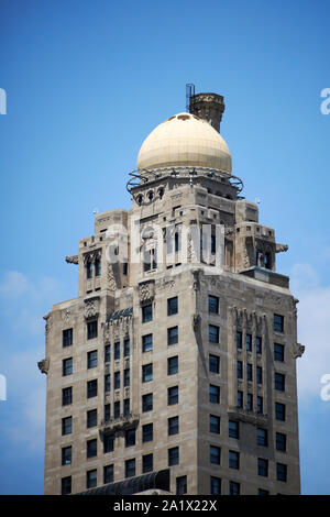onion dome at the top of the intercontinental hotel chicago illinois united states of america - Stock Photo