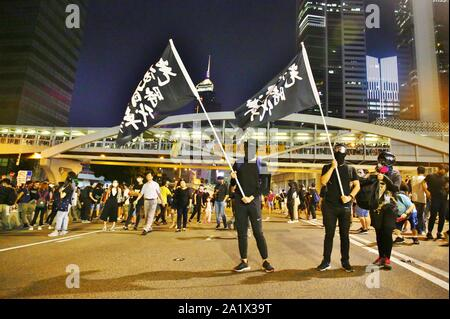 Hong Kong, China. 28th Sep, 2019. Hundred of thousands attend an assembly at Tamar Park, Admiralty, marking the 5th Anniversary of Umbrella Movement in Hong Kong. Credit: Gonzales Photo/Alamy Live News - Stock Photo