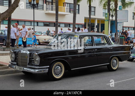 Mercedes 220 SE (W111). Classic car meeting in Torremolinos, Málaga, Spain. - Stock Photo