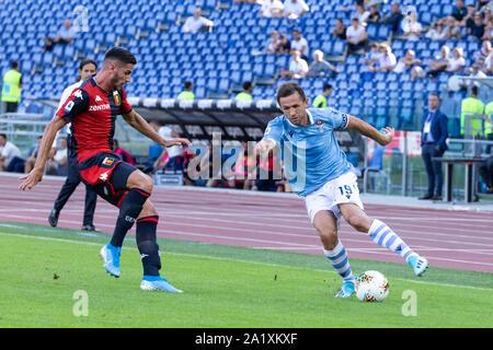 Luis Alberto Romero Alconchel of Lazio in action during the Serie A match between Lazio and Genoa at Olimpico Stadium.(Final score: Lazio 4:0 Genoa) - Stock Photo