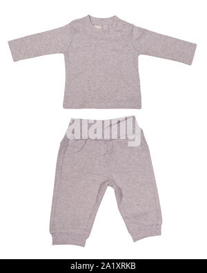 Baby suit on white background - Stock Photo