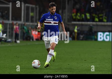 BORTOSZ BERESZYNSKI , SAMPDORIA,  during Sampdoria Vs Inter , Genova, Italy, 28 Sep 2019, Soccer Italian Soccer Serie A Men Championship - Stock Photo