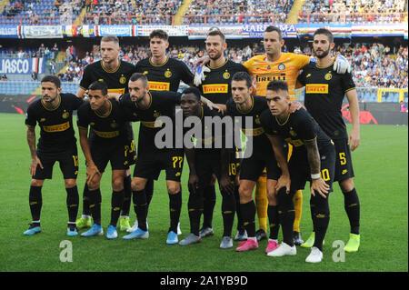 LINE UP  INTER  during Sampdoria Vs Inter , Genova, Italy, 28 Sep 2019, Soccer Italian Soccer Serie A Men Championship - Stock Photo