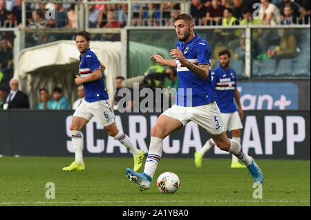 JULIAN CHABOT , SAMPDORIA,  during Sampdoria Vs Inter , Genova, Italy, 28 Sep 2019, Soccer Italian Soccer Serie A Men Championship - Stock Photo